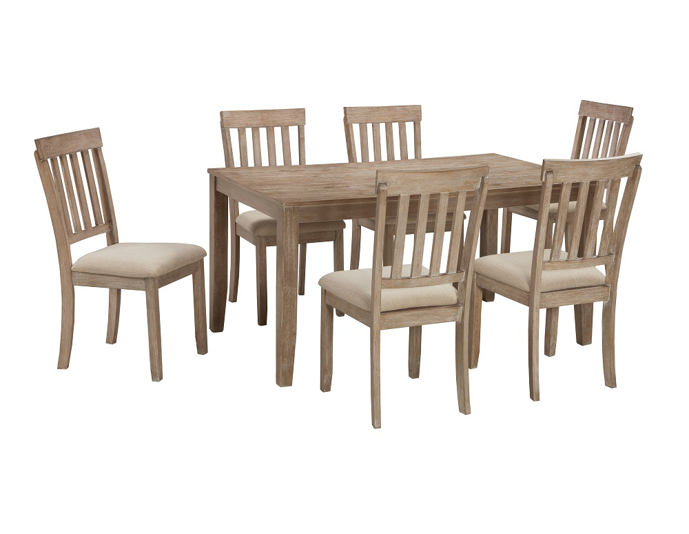 #D484 36 inch x 60 inch table and 6 chairs $598