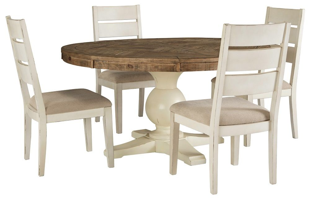 #D754 60 inch Round table + 4 chairs $998